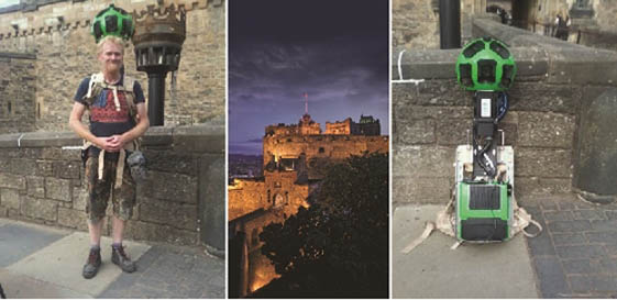 Google Street View come to Edinburgh Castle