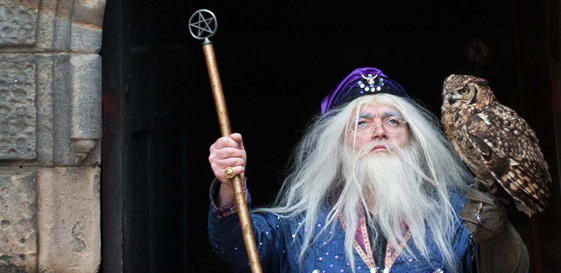 Wizard at Edinburgh Castle