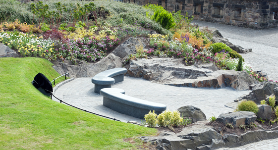 Edinburgh Castle. Royal Visit. National War Memorial Gardens