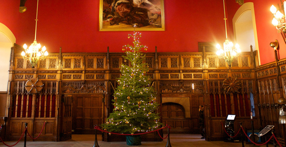 Christmas tree at Edinburgh Castle