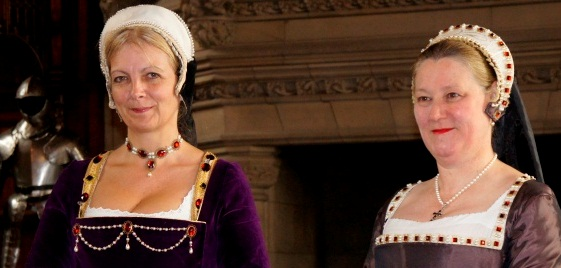 Costumed performers play Renaissance Ladies at Edinburgh Castle