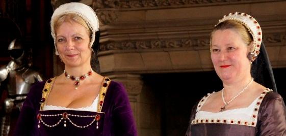 Costumed performers play Renaissance Ladies at Edinburgh Castle