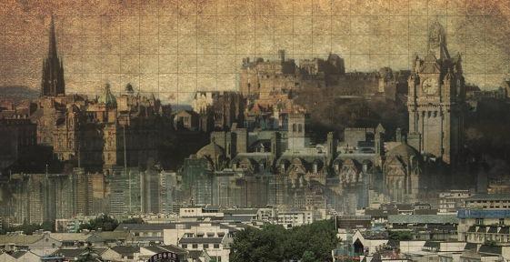 Old painting of Edinburgh