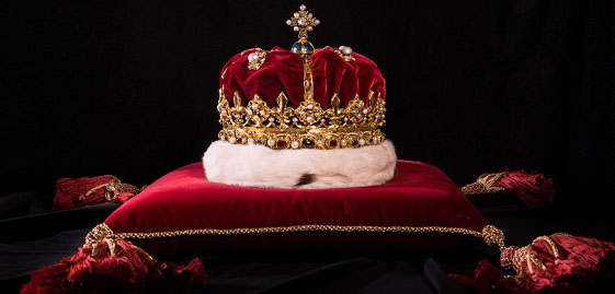 Crown of Scotland, on display as part of the Crown Jewels at Edinburgh Castle