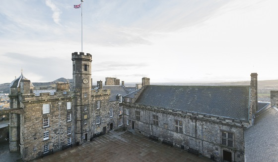 A view of the Royal Palace within Edinburgh Castle