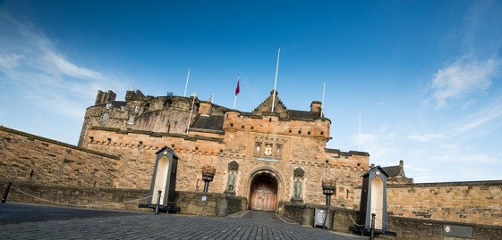 Edinburgh Castle portcullis gate