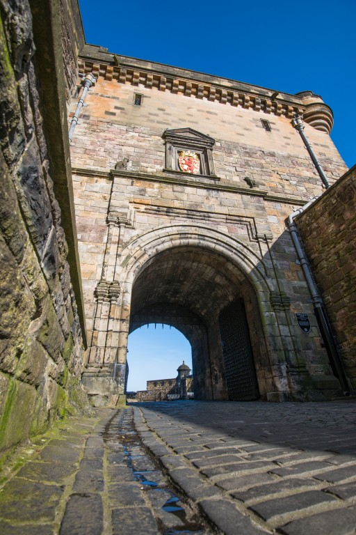 view of the portcullis gate