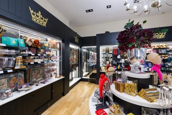 inside the Crown Gift Shop at Edinburgh Castle