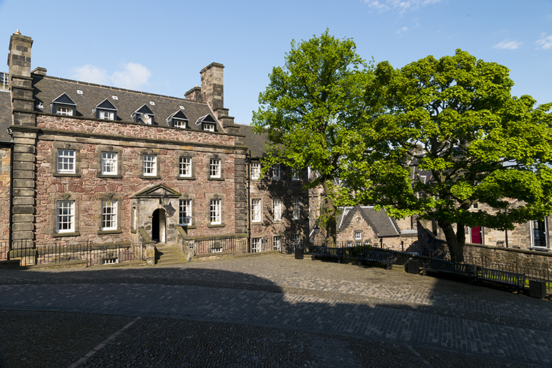 Exterior view of Governor's House at Edinburgh Castle.