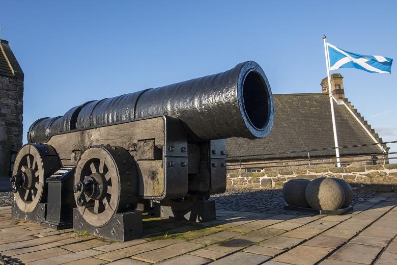 A large black cannon