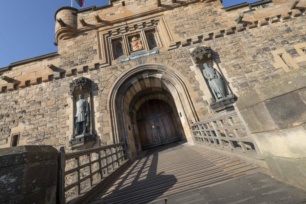 view of the entrance at Edinburgh Castle